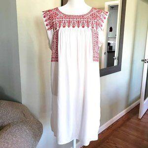 NWOT Embroidered Shift Dress